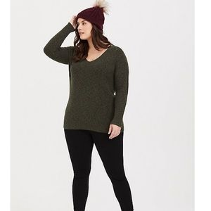 Olive strapped sweater